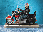 Skeleton Biker on Motorcycle
