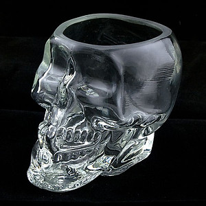 Clear Skull Shot Glass