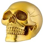Gold Skull Small Paperweight