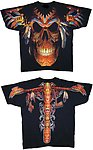Indian Skull T Shirt Printed Both Sides