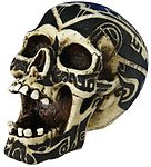 Tribal Skull Paperweight