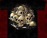 Yum Skulls and Maggots T Shirt