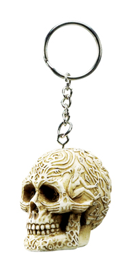 Tribal Skull Key Chain