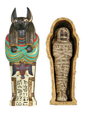 Anubis Sarcophagus and Mummy-Small
