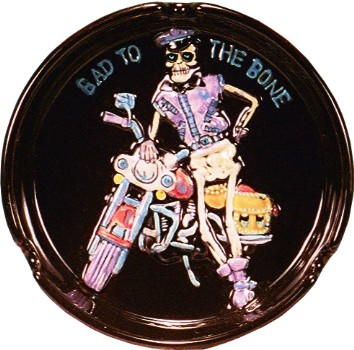 Bad ToThe Bone Biker Motorcycle Ashtray
