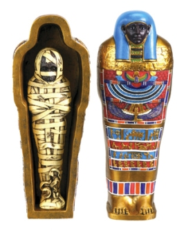 Blue Mummy and Sarcophagus 7 inch