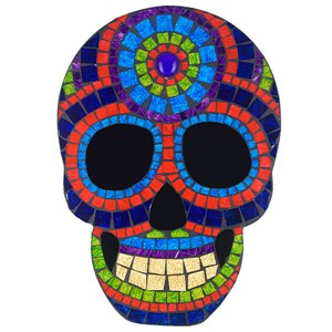 Day Of The Dead Mosaic Wall Hanging Blue