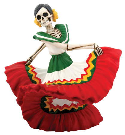 Day of the Dead Dancer-Red