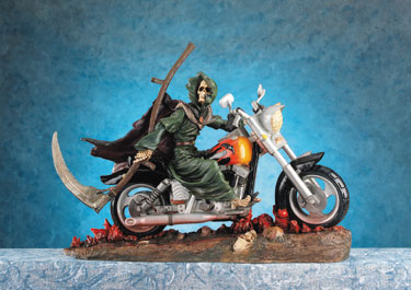 Reaper Rider On Motorcycle
