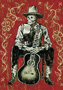 Day of The Dead Skeleton Magnet