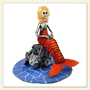 Day of The Dead Doll Mermaid