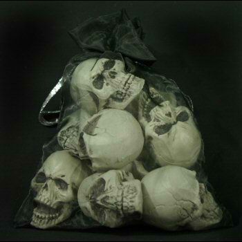 9 Mini Skulls Bag of Skulls
