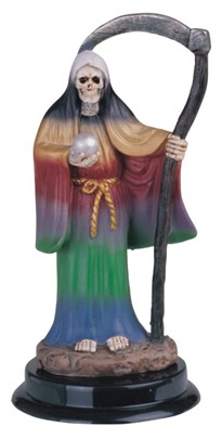Santa Muerte Rainbow 5 inches tall