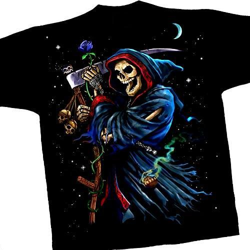 Grim Reaper T Shirt Printed Both Sides
