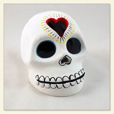 Day of The Dead Skull and Heart