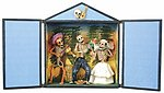 Large Day of The Dead Skeleton Retablo