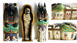 Anubis Sarcophagus and Mummy-Large