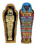 Blue Mummy and Sarcophagus 4 inch