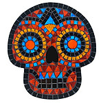 Day Of The Dead Mosaic Wall Hanging Brown