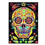 Day Of The Dead Skull Card