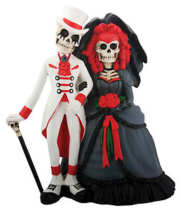 Day of the Dead Goth Wedding Cake Topper
