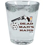Dead Man's Hand Shot Glass