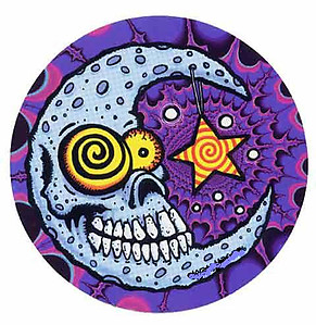 Moon Skull Sticker