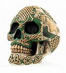Irish Warrior Skull Paperweight