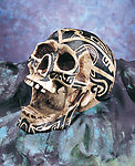 Tribal Open Skull Ashtray-Now Rare