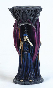 Grim Reaper See, Hear, Speak No Evil Candle Holder-RARE ITEM