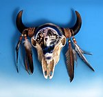 Cow Skull Painted