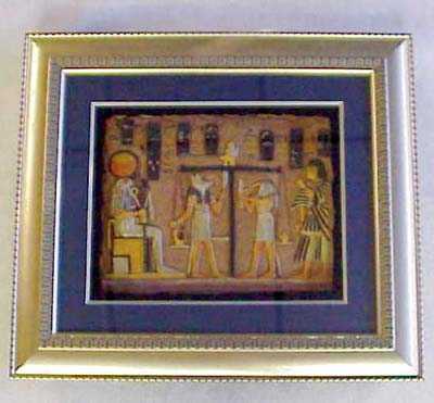 Anubis Framed Resin Painting