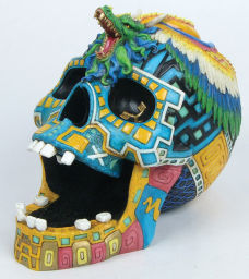 Aztec Warrior Skull