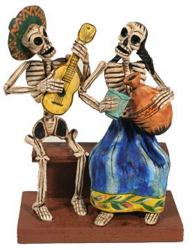 Day of The Dead Lovers Bench