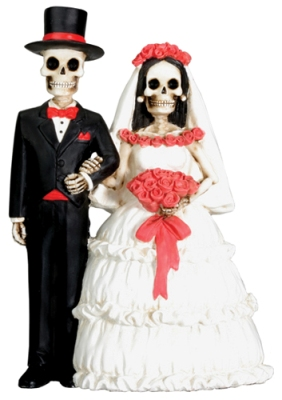Day of Dead Wedding Cake Topper