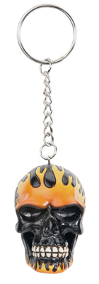 Skull Flame Key Chain