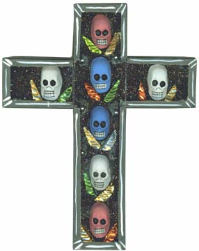 Day of The Dead Skull Cross