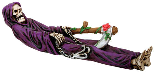 Grim Reaper Incense Burner in Purple Robe