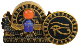 Scarab/Eye of Horus Coasters