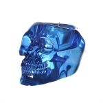 Blue Skull Votive Candle Holder