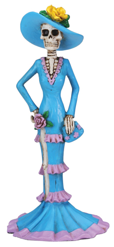 Day of The Dead Blue Lady