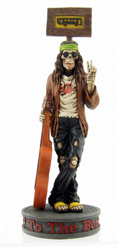 Hippie Skeleton Guitarist