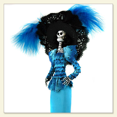 Day of The Dead Doll Blue
