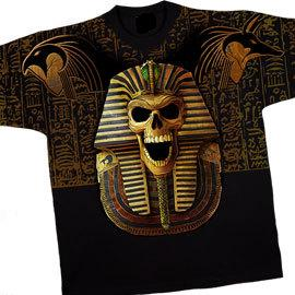 King Tut Skull Printed Both Sides
