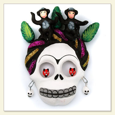 Day of The Dead Monkey Skull