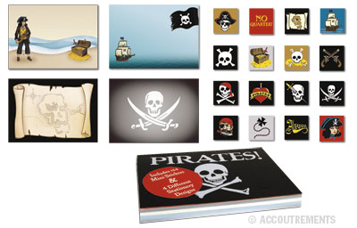 Pirate Notepad and Stickers