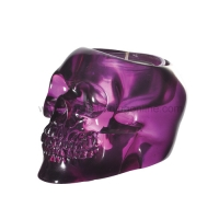 Purple Skull Votive Candle Holder