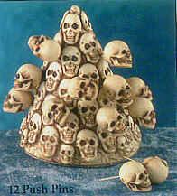 Skull Push Pins- Rare Hard To Find Item