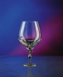 Skeleton With Bats Wine Glass-Discontinued