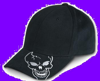 Skull on Bill Cap